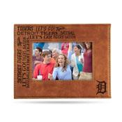 Tigers Laser Engraved Brown Picture Frame (6.75