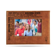 Arizona State Laser Engraved Brown Picture Frame (6.75