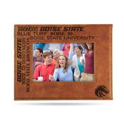 Boise State Laser Engraved Brown Picture Frame (6.75