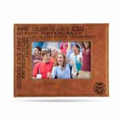 Colorado State Laser Engraved Brown Picture Frame (6.75
