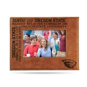 Oregon State Laser Engraved Brown Picture Frame (6.75