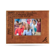 Braves Laser Engraved Brown Picture Frame (6.75