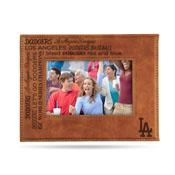 Dodgers Laser Engraved Brown Picture Frame (6.75