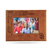 Padres Laser Engraved Brown Picture Frame (6.75