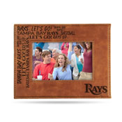 Rays Laser Engraved Brown Picture Frame (6.75