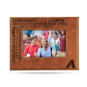 Diamondbacks Laser Engraved Brown Picture Frame (6.75