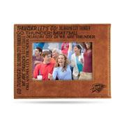Thunder Laser Engraved Brown Picture Frame (6.75