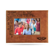 Pelicans Laser Engraved Brown Picture Frame (6.75