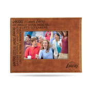 Lakers Laser Engraved Brown Picture Frame (6.75