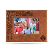 Nuggets Laser Engraved Brown Picture Frame (6.75