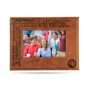 Timberwolves Laser Engraved Brown Picture Frame (6.75