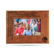 Warriors Laser Engraved Brown Picture Frame (6.75
