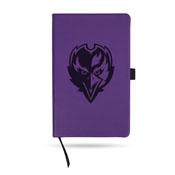 Ravens Team Color Laser Engraved Notepad W/ Elastic Band - Purple