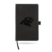 Panthers - Cr Team Color Laser Engraved Notepad W/ Elastic Band - Black