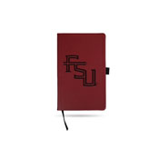 Florida State Team Color Laser Engraved Notepad W/ Elastic Band - Maroon