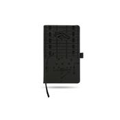 Broncos Laser Engraved Black Notepad With Elastic Band