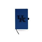 Kentucky University Team Color Laser Engraved Notepad W/ Elastic Band - Royal