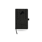 Lions Laser Engraved Black Notepad With Elastic Band
