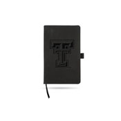Texas Tech Team Color Laser Engraved Notepad W/ Elastic Band - Black