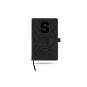 Syracuse University Basketball Laser Engraved Black Notepad With Elastic Band