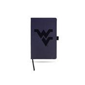 West Virginia University Team Color Laser Engraved Notepad W/ Elastic Band - Navy