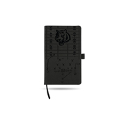 Bengals Laser Engraved Black Notepad With Elastic Band