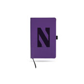 Northwestern Team Color Laser Engraved Notepad W/ Elastic Band - Purple