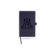 Arizona University Team Color Laser Engraved Notepad W/ Elastic Band - Navy