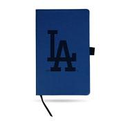Dodgers Team Color Laser Engraved Notepad W/ Elastic Band - Royal
