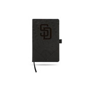 Padres Laser Engraved Notepad With Elastic Band