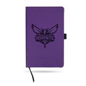 Hornets Team Color Laser Engraved Notepad W/ Elastic Band - Purple