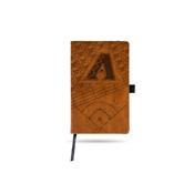 Diamondbacks Laser Engraved Brown Notepad With Elastic Band