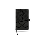 Penguins Laser Engraved Notepad With Elastic Band