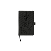 Cavaliers Laser Engraved Black Notepad With Elastic Band