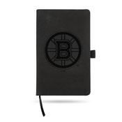 Boston Bruins Black Laser Engraved Notepad (5.25