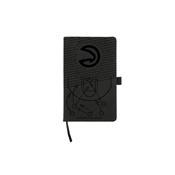 Hawks - Atl Laser Engraved Black Notepad With Elastic Band