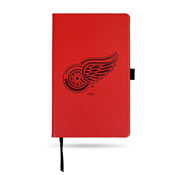 Detroit Red Wings Red Laser Engraved Small Notepad