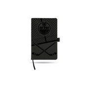Oilers  Laser Engraved Notepad With Elastic Band