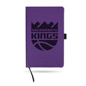 Kings - Sac Team Color Laser Engraved Notepad W/ Elastic Band - Purple