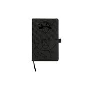 Knicks Laser Engraved Black Notepad With Elastic Band
