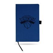 Knicks Team Color Laser Engraved Notepad W/ Elastic Band - Royal