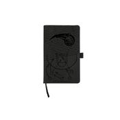 Magic Laser Engraved Black Notepad With Elastic Band