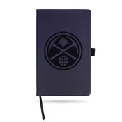 Nuggets Team Color Laser Engraved Notepad W/ Elastic Band - Navy