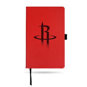 Rockets Team Color Laser Engraved Notepad W/ Elastic Band - Red