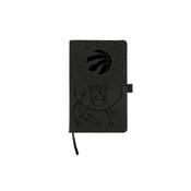 Raptors Laser Engraved Black Notepad With Elastic Band