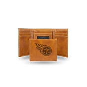 Titans Laser Engraved Brown Trifold Wallet