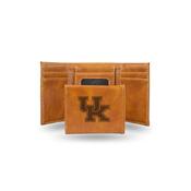 Kentucky University Laser Engraved Brown Trifold Wallet