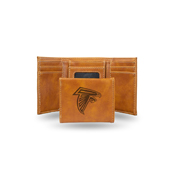 Falcons Laser Engraved Brown Trifold Wallet