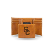 Southern California Laser Engraved Brown Trifold Wallet