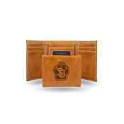 South Dakota University Laser Engraved Brown Trifold Wallet